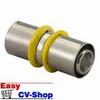 Unipipe pers gas sok koppeling 25mm MLC-G