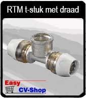 RTM t-stuk m.draad